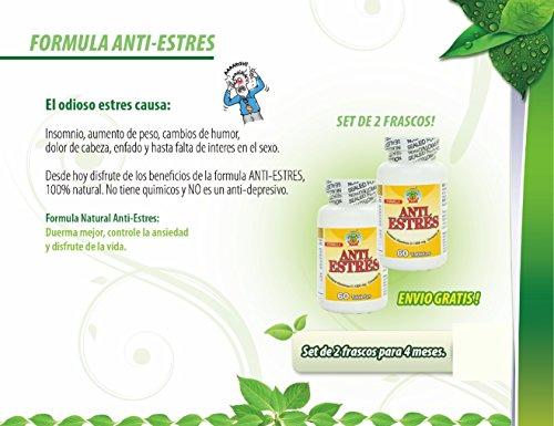 Amazon.com: Anti Estres formula natural. Tratamiento natural para combatir el estres y la ansiedad, Set de 2 frascos para 4 meses.: Health & Personal Care