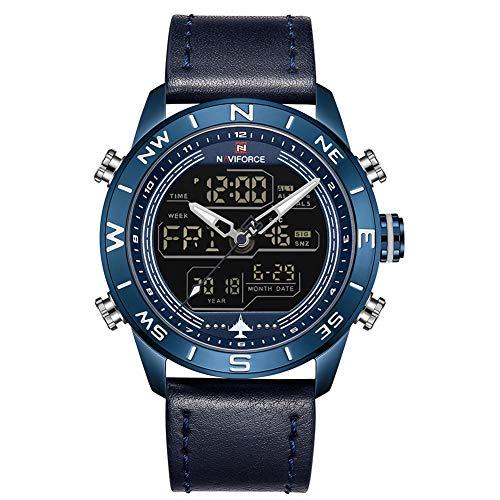 NAVIFORCE Men's Fashion Digital Analog Watch Dual Display Chronograph Sport Quartz Wristwatch. ...