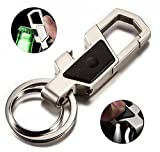 Olivery Stainless Steel Keychain with LED Light & Bottle Opener in Exquisite Metal Key Chain Gift Box, The Perfect Combination Of Luxury, Power And Elegance - Will Never Rust, Bend or Break!