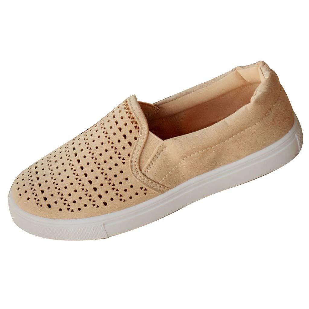 Shusuen Women's Slip-On Sneaker Comfortable Casual Athletic Shoe Pink by Shusuen_shoes