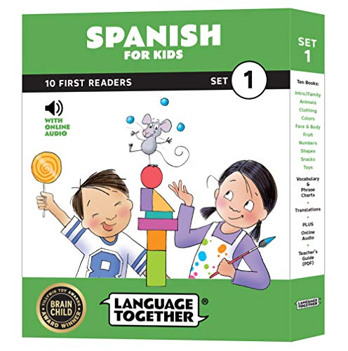 Spanish for Kids: 10 First Reader Books with Online Audio and English (Beginning to Learn Spanish) Set 1 by Language Together (English Kids Books)