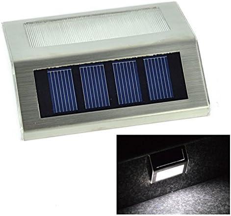 luz solar jardin luz,Solar Power Leds Exterior Impermeable Jardín Camino Escaleras, luz de la lámpara, ahorro de energía, led Lámpara de pared solar Cálida, luz solar al aire libre: Amazon.es: Iluminación