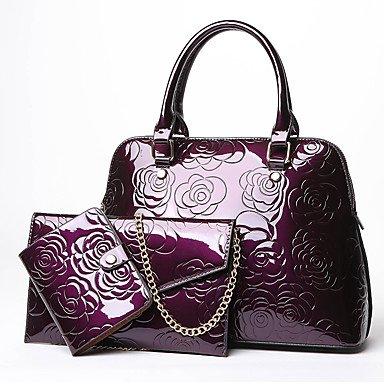 Las mujeres PU/Evento Casual Formal parte establece la bolsa,violeta Black