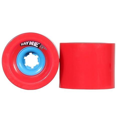 Rayne Lust 70 mm 77 A ruedas de longboard rojo, cuadrado con tapa central Urethane Longboard ...