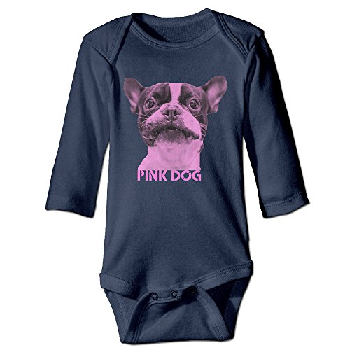 Price comparison product image Boss-Seller Pink Dog.PNG Long-Sleeve Romper Jumpsuit For 6-24 Months Newborn Baby Size 6 M Navy