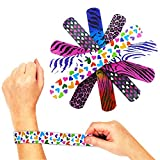 [Novelty Place] Animal/Heart Print Slap Bracelets Party Wrist Strap for Adult Teens Kids - 9