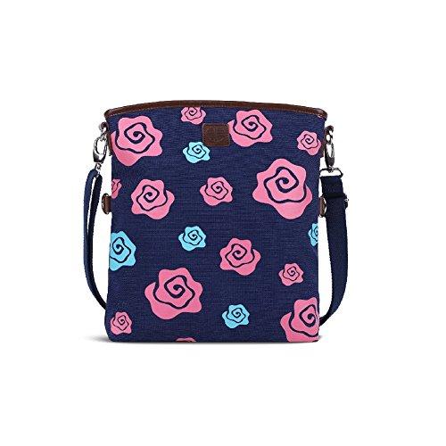 National vento da ragazza con stampa floreale, borsa Messenger/spedizione da spalla per la scuola