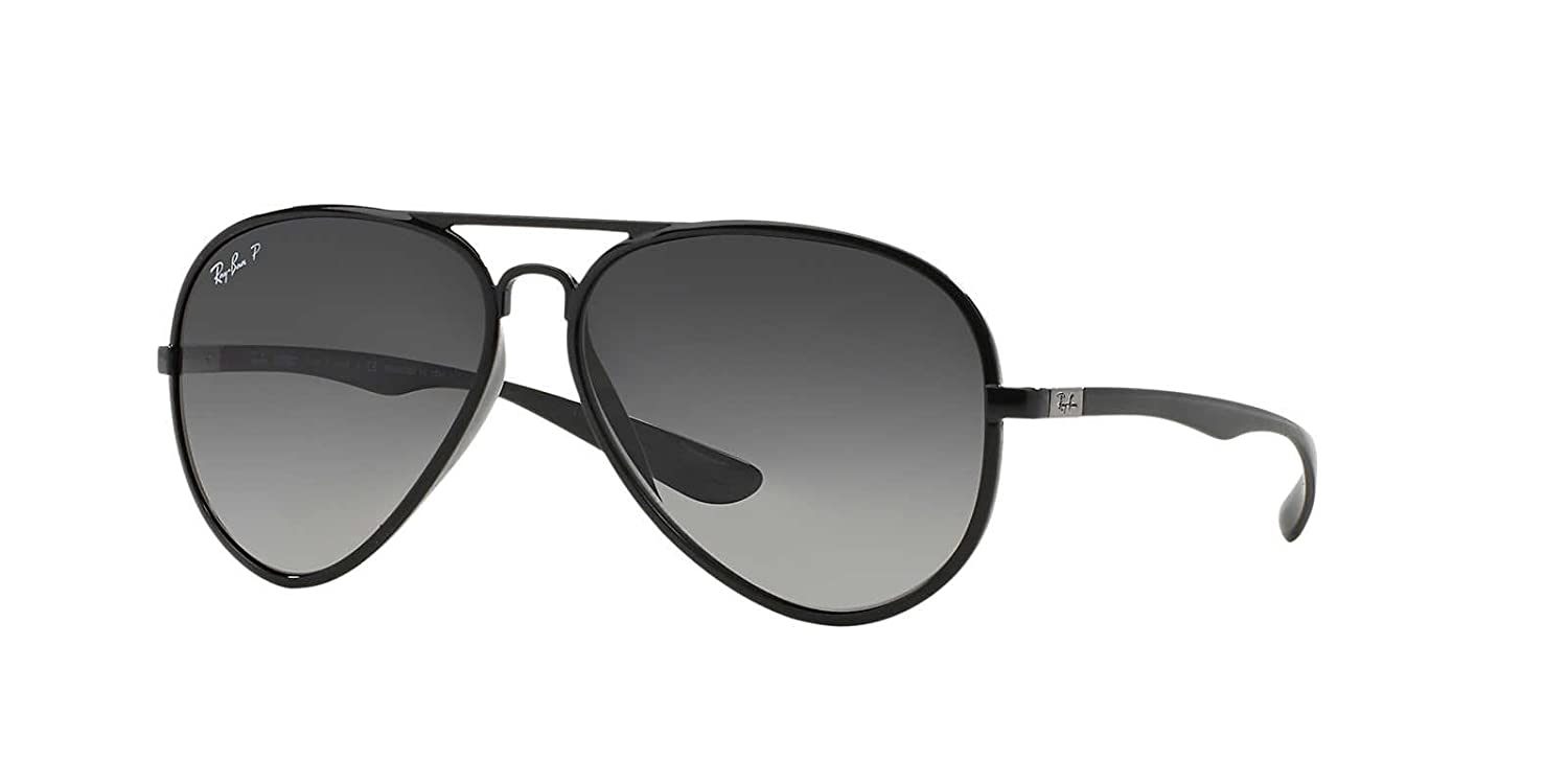 03d2172bc5c Ray-Ban Sunglasses RB4180 Aviator Liteforce Polarized 601 T3  Amazon.co.uk   Clothing
