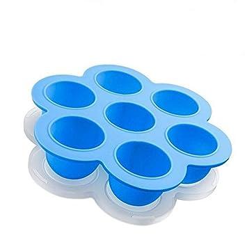 Silicona huevo Bites moldes para Instant Pot Accesorios con tapa, reutilizable bebé contenedores de almacenamiento