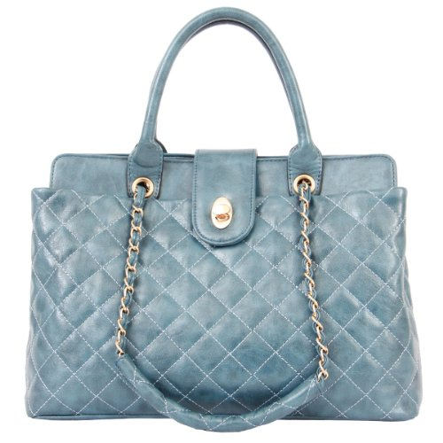 Newest Department Designer Celebrity Style Satchel Hobo Tote Bag Handbag HB4362 (blue (Celebrity Style Handbag Bag)