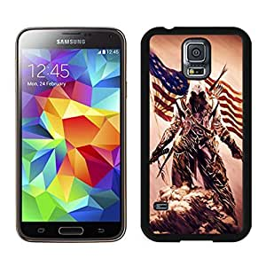 Attractive Assassins Creed 3 Desmond Miles Pistol Axe Flag Black&Grace Phone Case for Samsung Galaxy S5 I9500