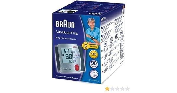 Braun monitores de presión arterial VitalScan Plus muñeca: Amazon.es: Salud y cuidado personal