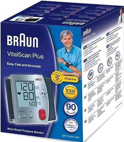 Braun monitores de presión arterial VitalScan Plus muñeca