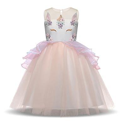 0efcb685d6304 ユニコーンドレス コスチューム 子供可愛いワンピース 演劇 マーメイド仮装 コスプレ衣装 仮装舞踏会 結婚式