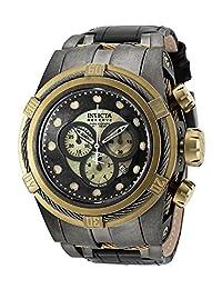 Invicta Mens Reserve Bolt ZEUS Swiss Made Chronograph Distressed Black IP Watch 18459