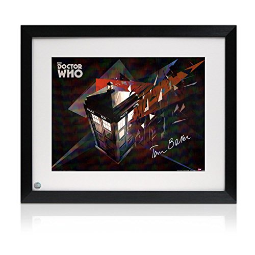 Tom Baker Signed And Framed Dr Who Tardis - Toms Com Returns