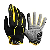 Full Finger Bike Gloves Unisex Outdoor Touch Screen Cycling Gloves Road Mountain Bike Bicycle Gloves M (6.69''-7.48'')