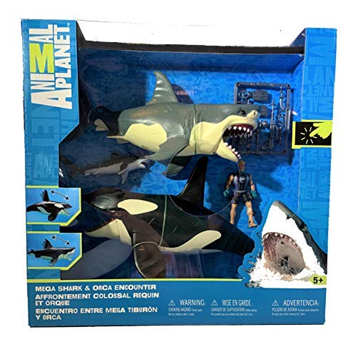 Great White Shark & Killer Whale Playset - Animal - Animal Planet Playset