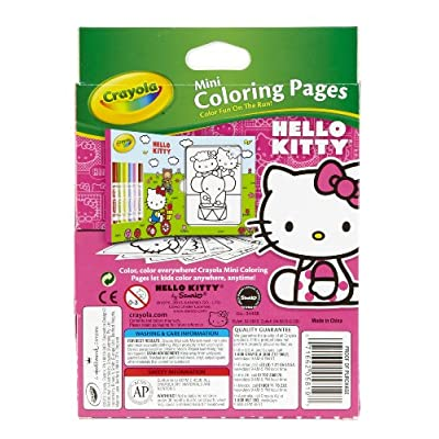 Crayola Hello Kitty Mini Coloring Pages & Markers, 86 Piece Set Art Gift for Kids 3 & Up, Washable Non-Toxic Markers, Mini Coloring Book Pages Feature Favorite Hello Kitty Characters, Great for Travel: Toys & Games
