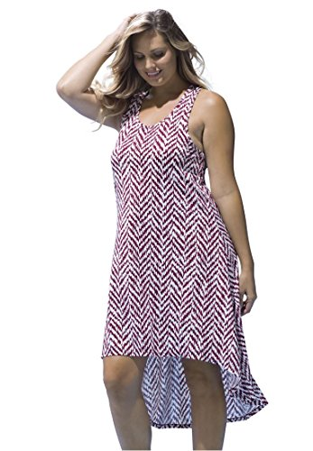 Woman Within Womens Racerback Cover Up