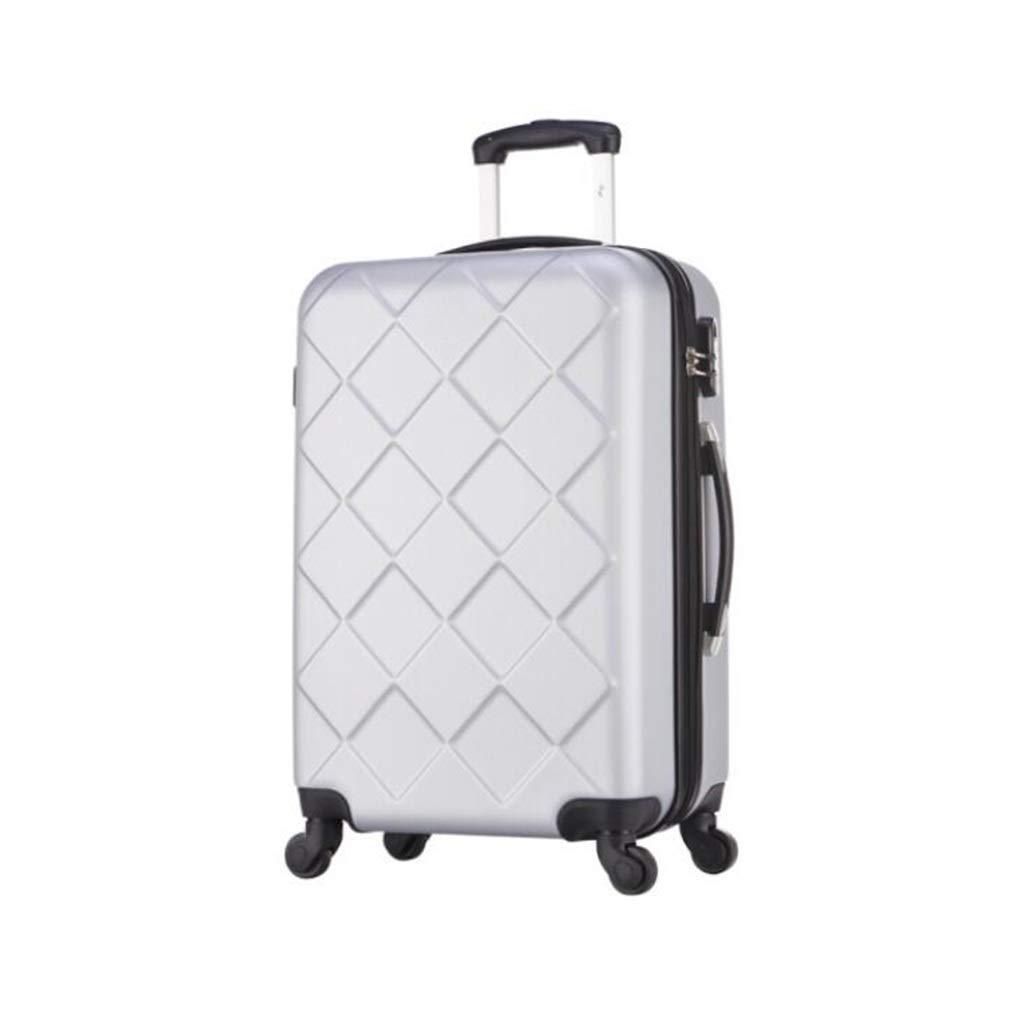 Yalztc-zyq16 スピナー荷物セット黒スーツケースセットハードシェル軽量ABS旅行荷物トロリーケース (色 : シルバー しるば゜, サイズ さいず : 20in) 20in シルバー しるば゜ B07QR3BDQ7