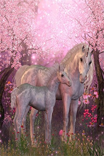 Enchanted Forest Baby Shower - OFILA Fantasy Unicorn Backdrop 3x5ft Dreamy Flowers Elf Enchanted Forest Fairy Tale Little Girl Princess Portraits Baby Shower Theme Party Birthday Decoration Photo Kids Wallpaper Toddlers Shoots Prop