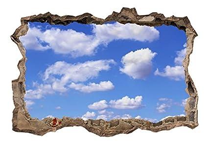 Poster XXL murando Panorama Bilder Dekoration Fototapete Loch 3D Wald Natur c-B-0175-t-a Vlies Leinwand 3D WANDILLUSION 210x150 cm Wandbild