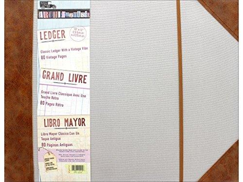 7 gypsies Architextures 16x12 Vintage Ledger - Leather & Vintage Canvas