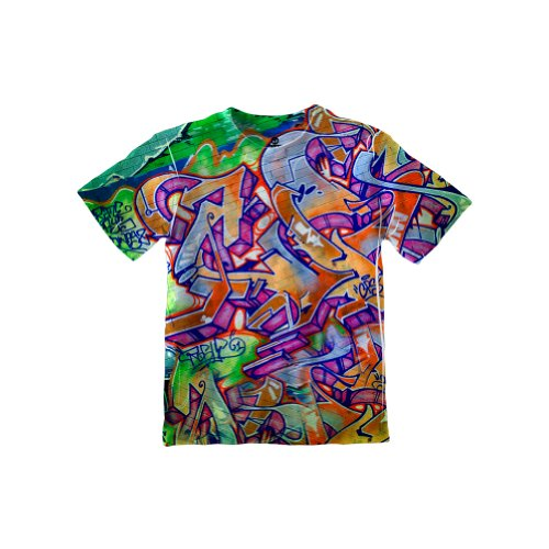 Boys Graffiti - NewWorldCo- Graffiti Green Street -Tagless- KIDS Shirt-Medium