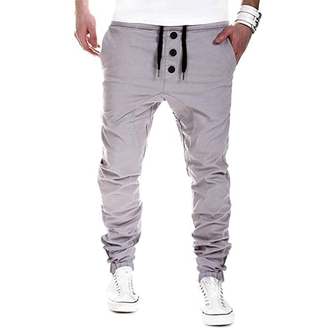 Herren Jogginghose Sweatpants,Dasongff Herren Jogger Chino Hose Freizeithose  Sweatpants Sporthose Jogging Baggy Slim Trainingshose 0d4ab77167