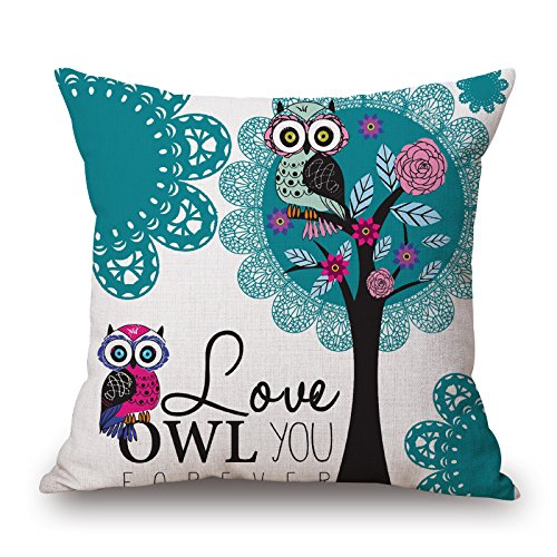[Loveloveu Bird Throw Pillow Covers ,best For Wife,bedroom,adults,chair,valentine,teens Boys 20 X 20 Inches / 50 By 50 Cm(two] (Leo Johnson Costume)