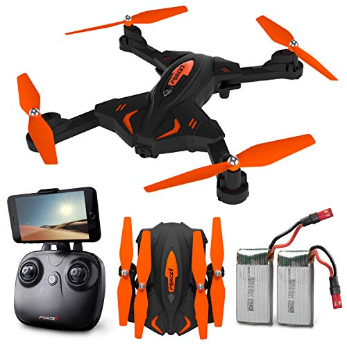 Force1 F111WF Foldable Drone with Camera