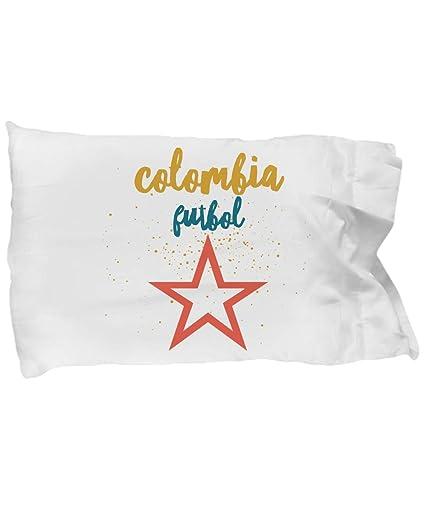 Amazon.com: Colombia Funda de Cama Futbol almohada ...