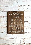 Rustic wood sign, Give thanks, Scripture wall art, Nursery wall art, Christian signs for wall, Wood wall art