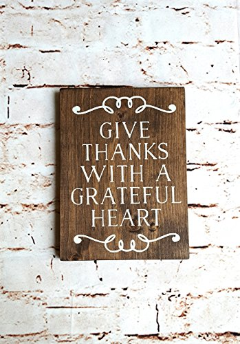 Rustic wood sign, Give thanks, Scripture wall art, Nursery wall art, Christian signs for wall, Wood wall art by Country Pallets