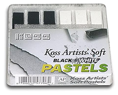 Black And White Soft Pastel Chalks (2 Sets) - Chalk Pastel Drawing