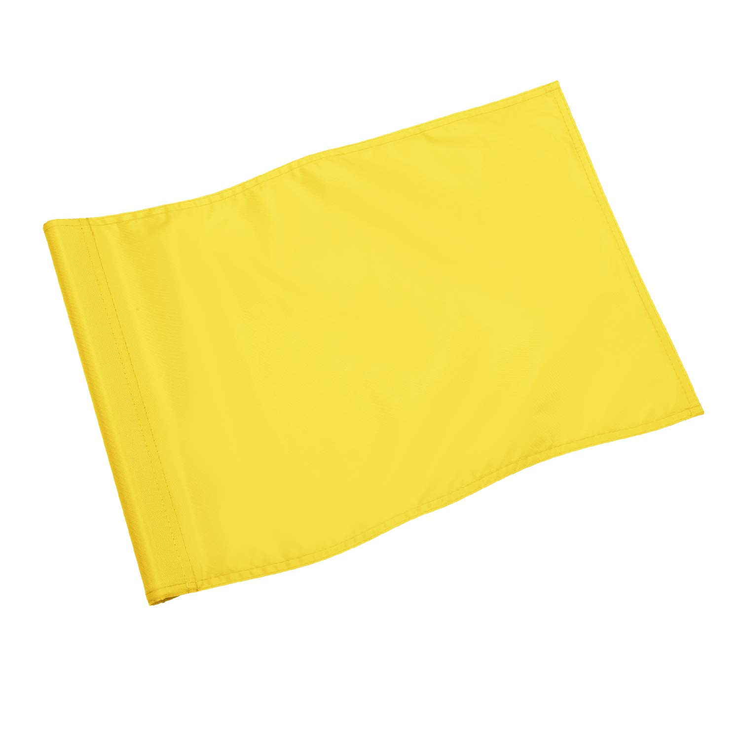 KINGTOP Solid Golf Flag with Plastic Insert, Putting Green Flags for Yard, Indoor/Outdoor, Garden Pin Flags, 420D Premium Nylon Flag, 13'' L x 20'' H, Yellow by KINGTOP