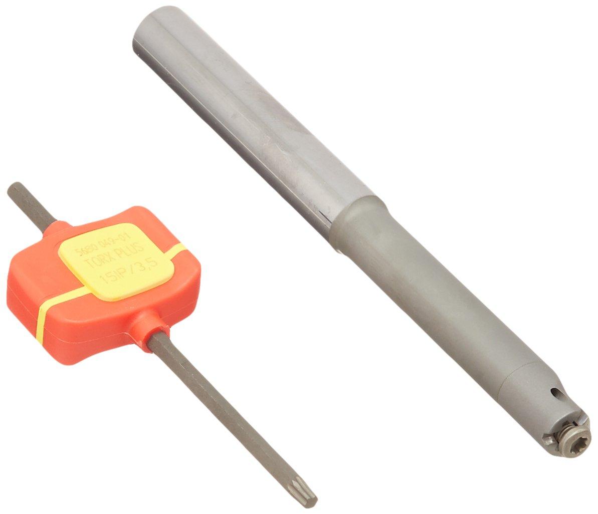 Sandvik Coromant MB-E12-64-09R Carbide Cylindrical Shank to CoroCut MB Adaptor 12 mm Shank Diameter 0.08 Maximum Depth of Cut