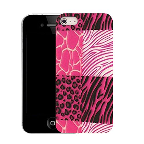 Mobile Case Mate IPhone 5 clip on Silicone Coque couverture case cover Pare-chocs + STYLET - pink feral pattern (SILICON)