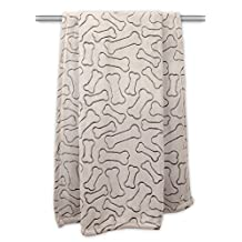 """DII Bone Dry Microfiber Pet Blanket for Dogs and Cats, 36x48"""", Warm, Soft and Plush for Couch, Car, Trunk, Cage, Kennel, Dog House-Taupe"""