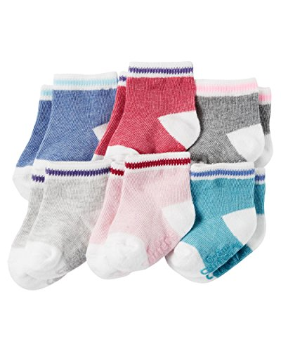 Carter's Baby-Girls Socks, Heather, 12-24 Months (Pack of 6)