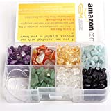 SHG Store Mixed 7 Color Chakras Natural Gemstone Chips for Jewelry Bracelet Making Beads With Box
