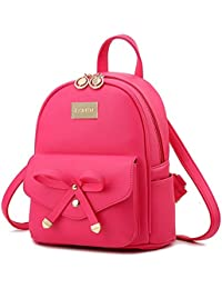 Cute Mini Leather Backpack Fashion Small Daypacks Purse...