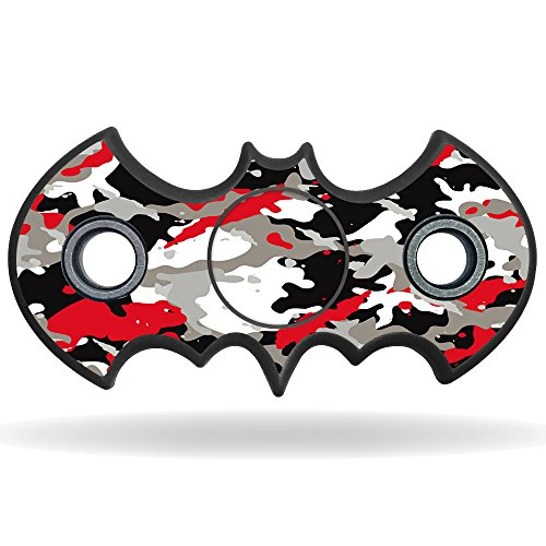 MightySkins Vinyl Decal Skin For Bat Shaped Fidget Spinner – Red Camo | Protective Sticker Wrap For Your Fidget toy | Easy To Apply Cover at Gotham City Store