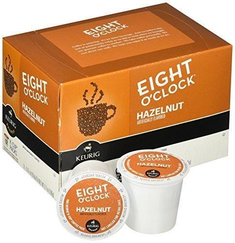 Hazelnut K-cups (Eight O'Clock Coffee Hazelnut, Keurig K-Cups, 12 Count, (Pack of )