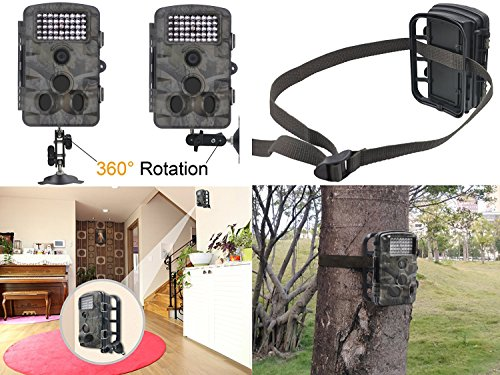 XIKEZAN 1080P HD Trail Game Camera12MP Mini Night Vision Wildlife Camera with Time Lapse 24 LCD Screen Game Trail Cameras
