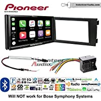 Volunteer Audio Pioneer AVH-W4400NEX Double Din Radio Install Kit with Wireless Apple CarPlay, Android Auto, Bluetooth Fits 1999-2006 Audi A6