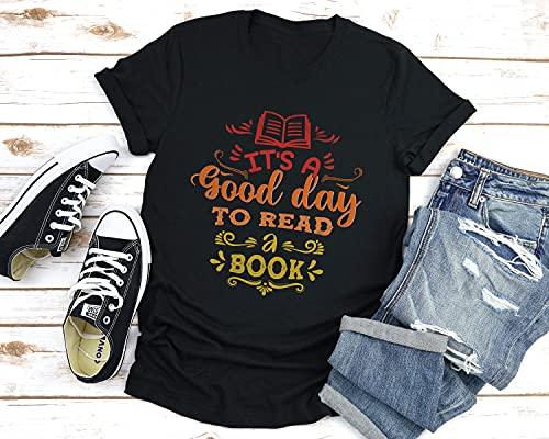 It's A Good Day To Read A Book Shirts, Read Shirt, Librarian Shirt, Book Lovers Shirt, Teacher Shirt, Reading Gifts, Trending Now, Plus Size T-Shirt, Long Sleeve, Sweatshirt, Hoodie
