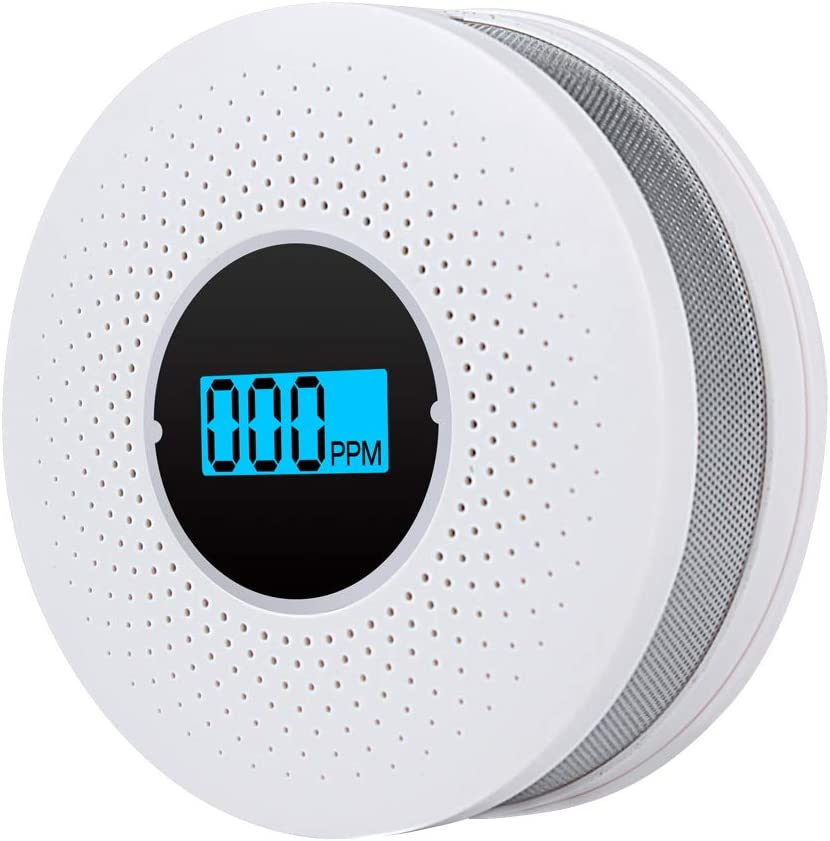 Carbon Monoxide Alarm Detector, Smoke Detectors,Replaceable Battery-Operated CO Alarm Detector with Digital Display【Packaging Non-Battery】