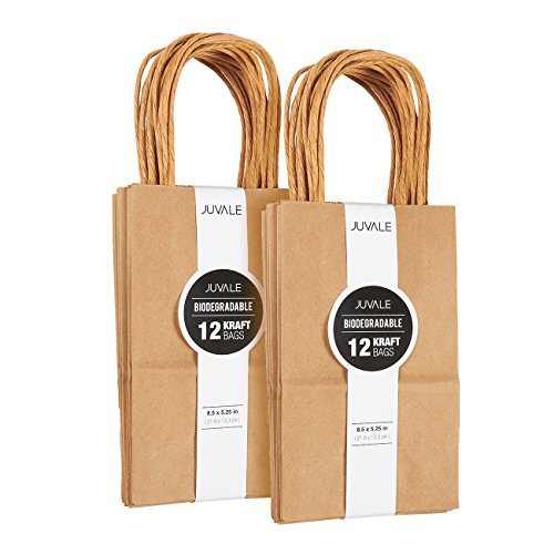 Bags Party Wedding Favors Wraps - Brown Kraft Bag, Birthday Party Gift Favor Bag Set - 24 Count - Small